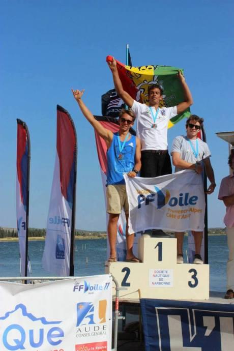 Tristan Algret Champion de France jeune, 2è Thibault Bernard, 3è Benoit Jacquier
